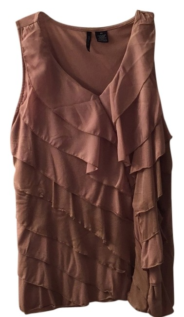 Preload https://item3.tradesy.com/images/new-directions-taupebeige-color-ruffled-tank-night-out-top-size-22-plus-2x-5131027-0-0.jpg?width=400&height=650