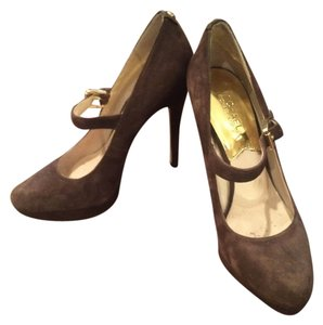 Michael Kors Designer Suede Brown Pumps