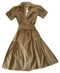 Diane von Furstenberg short dress Khaki on Tradesy