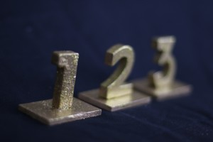 Table Numbers Hand Painted Gold (enough For 20 Tables)