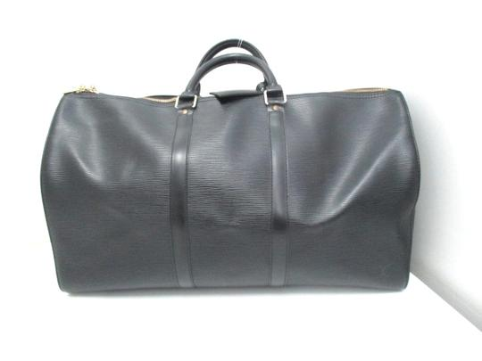 Louis Vuitton Keepall Keepall Keepall Keepall 50 black Travel Bag