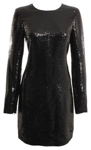 Diane von Furstenberg Sequin Evening Designer Longsleeve Dress