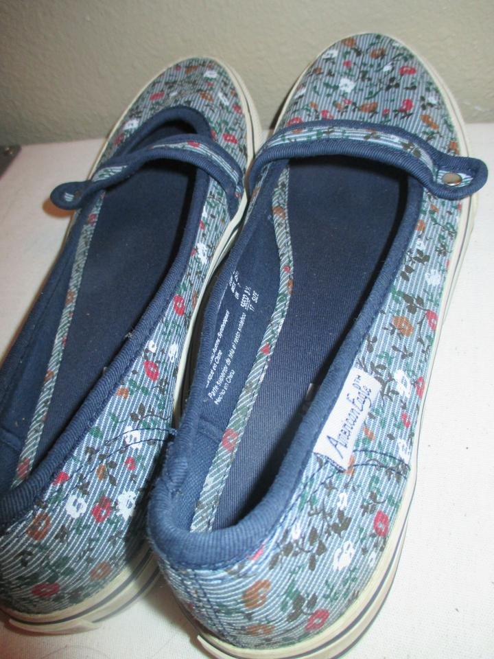 American Eagle Outfitters Blue Flats Size 8 5 5 Off Tradesy