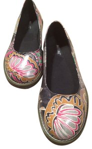 Miss Me Slipons Designer Womens Floral Black Red Beige Tan Flats