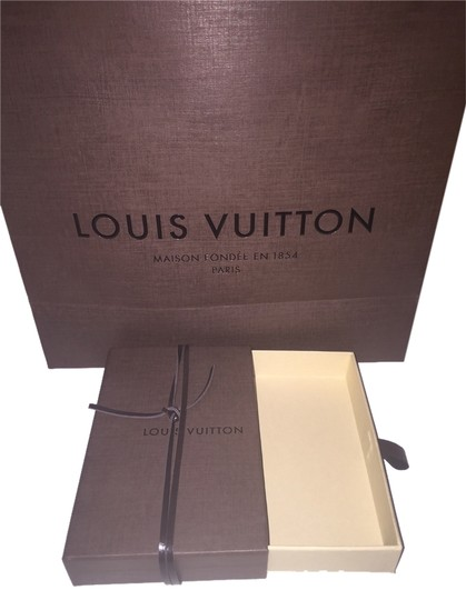 Louis Vuitton Shopping Leather Chord Tote in Brown accessory box and