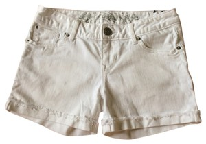 Express Cuffed Shorts White