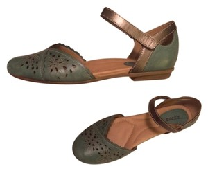 Earth Comfort Flats Green Mary Jane Mary Jane Teal & Brown Sandals