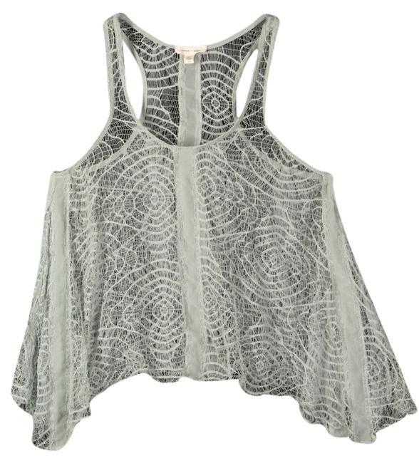 Silence + Noise + Urban Outfitters Woven Sheer Top Green Blue