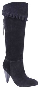 BCBG Otk Over The Knee Suede Black Boots