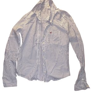 Hollister Button Down Shirt Blue/White Strip