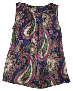 Talbots Silk Paisely Office Top Paisley