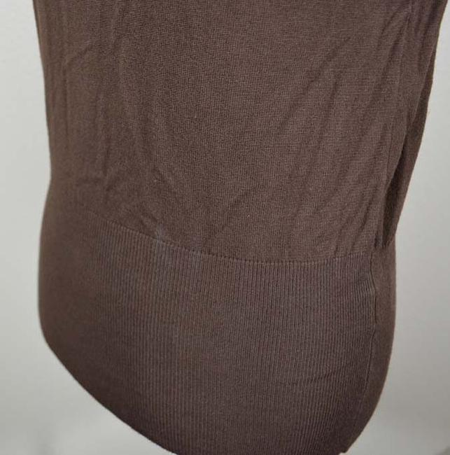 dressbarn Short Sleeve Cap Sleeve Mock Turtleneck Banded Bottom Knit Sweater