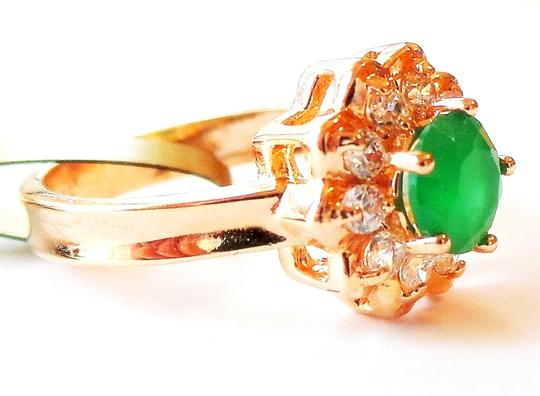 Other Lovely Dainty Genuine Natural Emerald and White Topaz 925 Sterling