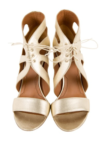 Givenchy Gold Metallic Sandals