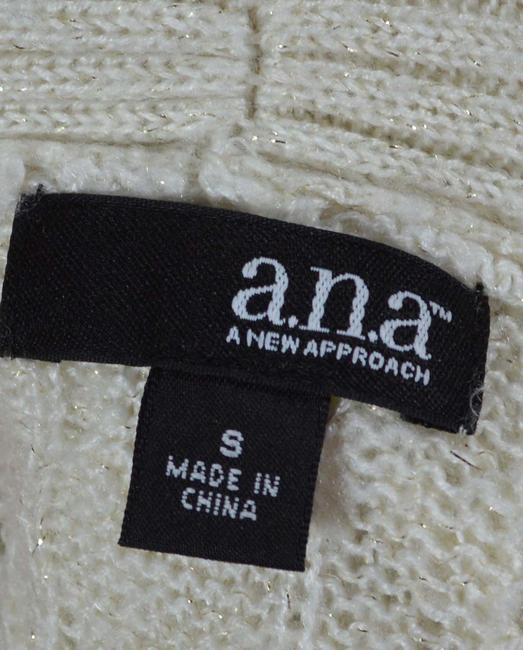 a.n.a. a new approach Cowl Open Knit Sparkle Cream Sweater