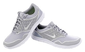 Nike Swarovski Bling Rhinestone Grey Athletic