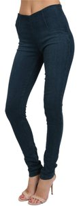 SOLD Design Lab Soho Super Pull On Legging Skinny Jeans-Dark Rinse