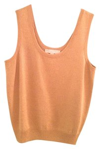 St. John Sweater Sleeveless Work Top Gold