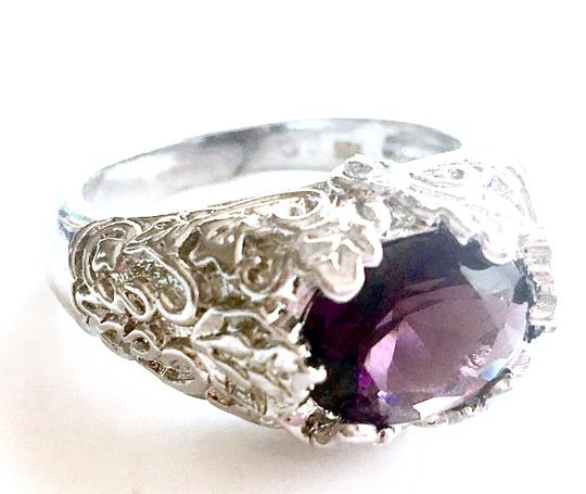 Other Beautiful Amethyst Solitaire 925 Sterling SIlver Ring 7.5
