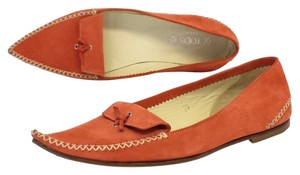 Tod's Coral Suede Pointy Toe Flats