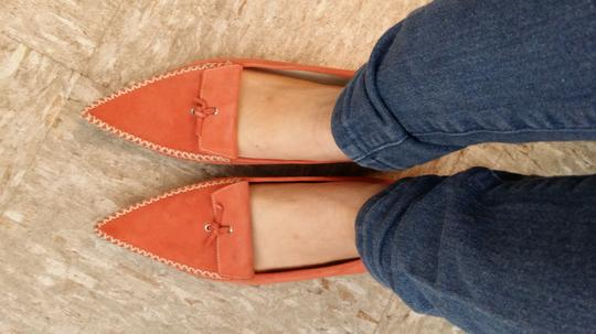 Tod's Coral Suede Pointy Toe Loafers Flats