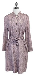 Escada Snakeskin Print Silk Trench Trench Coat