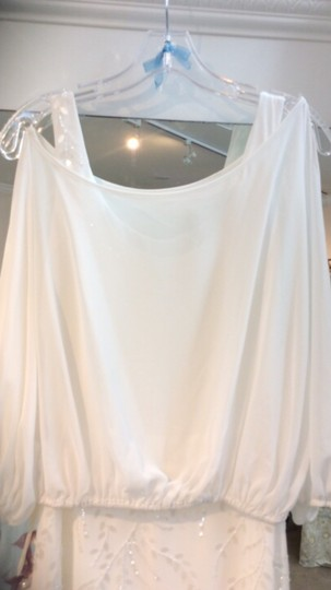 La Sposa Off White Chiffon Ibel Feminine Wedding Dress Size 8 (M) Image 1