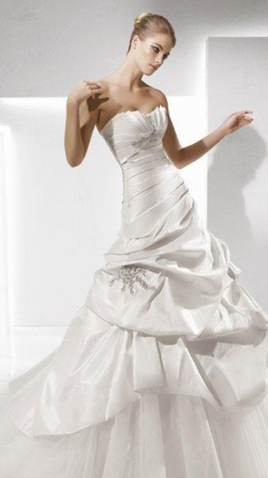 La Sposa Off White Taffeta Tulle Sabala Traditional Dress Size 6 (S)