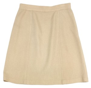 St. John Gold Knit Pencil Skirt