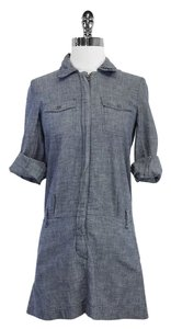 Theory short dress Chambray Cotton Shirt on Tradesy