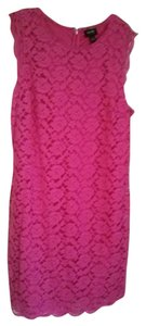 Nicole Miller Sleeveless Lace Shift Dress