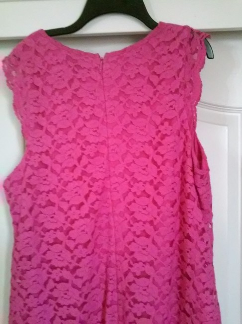 Nicole Miller Sleeveless Lace Shift Dress Image 2