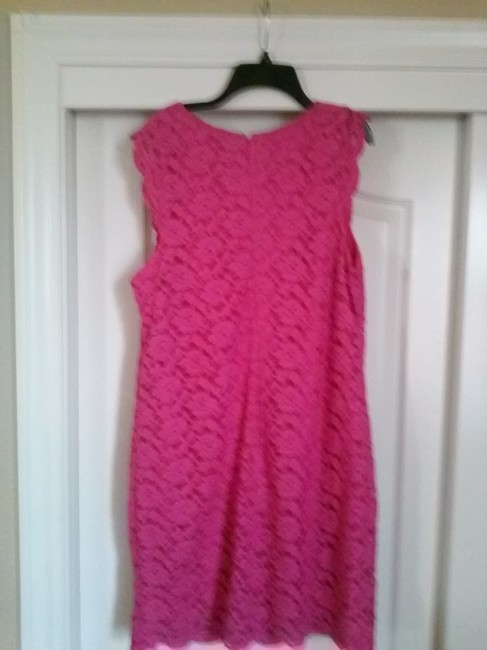 Nicole Miller Sleeveless Lace Shift Dress Image 3