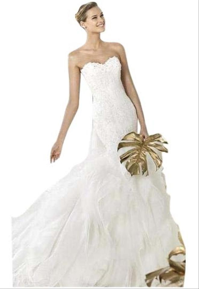 Pronovias wedding dresses up to 70 off at tradesy for Bebe dresses wedding guest
