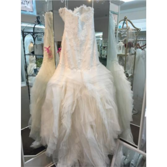 Pronovias Off White Lace and Organza Leiben Traditional Dress Size 12 (L)