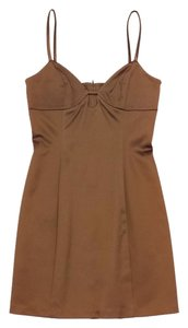 Maria Bianca Nero short dress Bronze Mini Satin Bodycon Bodycon on Tradesy
