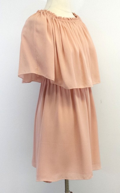 Halston short dress Flowy Silk Blush on Tradesy