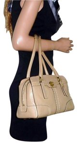 Coach 11539 Turn Lock Brass Satchel in Beige