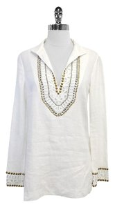 Tory Burch Studded Linen Tunic