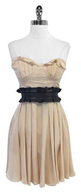 Preload https://item5.tradesy.com/images/elizabeth-and-james-nude-silk-and-leather-strapless-mini-short-casual-dress-size-2-xs-5136124-0-0.jpg?width=400&height=650
