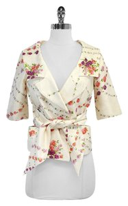 Tracy Reese Floral Print Silk Jacket