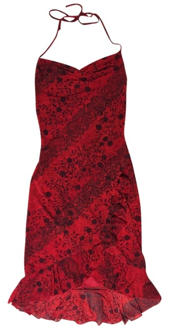 Preload https://img-static.tradesy.com/item/5136256/la-belle-red-and-black-floral-knee-length-night-out-dress-size-4-s-0-0-650-650.jpg