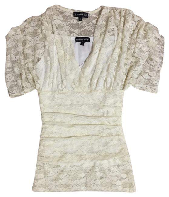 Rampage Beige Tank Cami Lace Top Cream