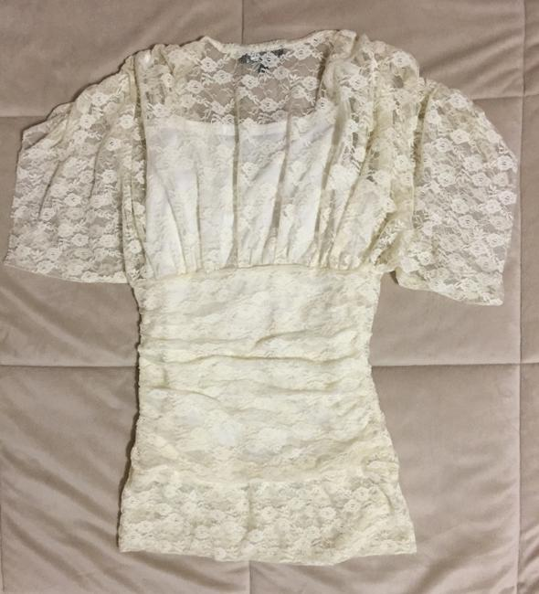 Rampage Beige Tank Cami Lace Top Cream Image 2