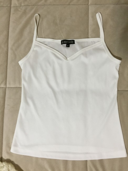 Rampage Beige Tank Cami Lace Top Cream Image 3