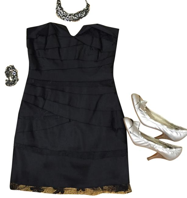 BCBGeneration Cocktail Little Tiered Layers Lace Strapless Bcbg Mini Dress