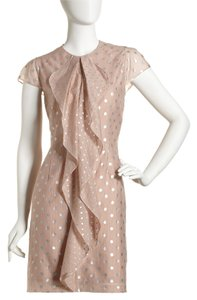 Andrew Marc Polka Dot Ruffles Dress