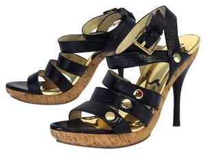 Michael Kors Patent Leather Cork Platform Sandals