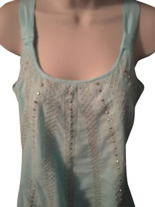 White House | Black Market Whbm Whbm Halter Whbm Top Light Blue with Silver beading