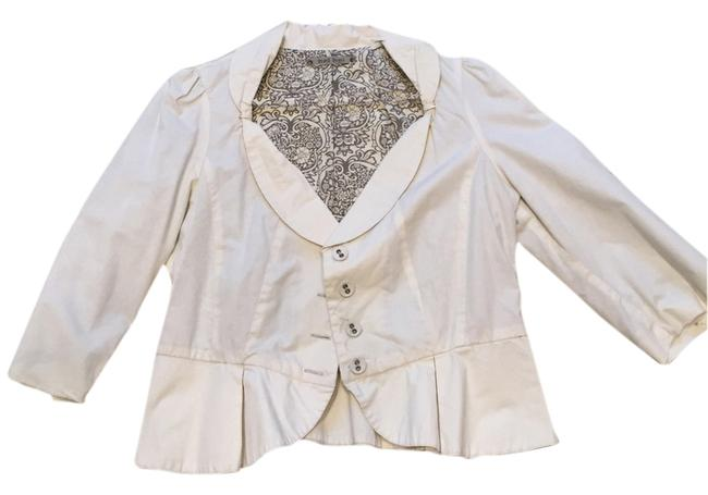 Hel hel-anthropologie Cream Blazer